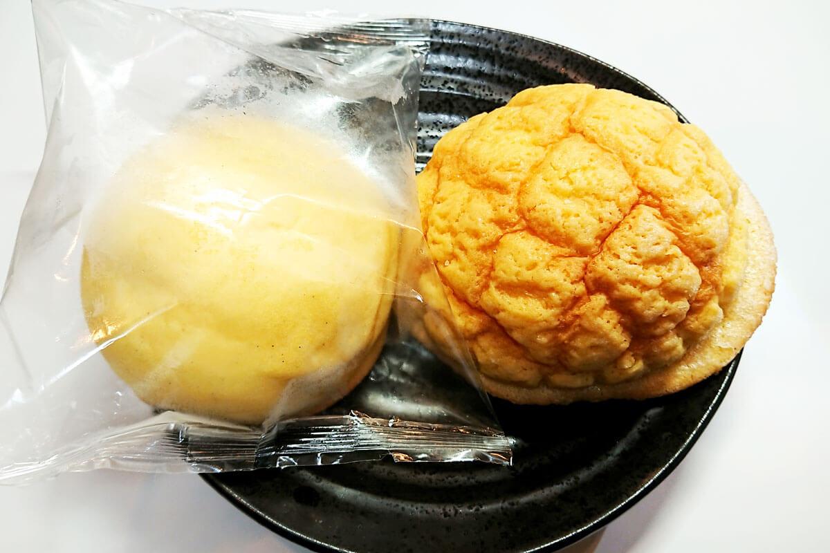 ふつうのメロンパンとの比較
